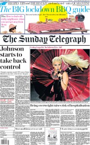 The Sunday Telegraph front page for 19 April 2020