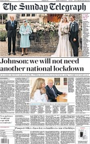 The Sunday Telegraph front page for 19 July 2020