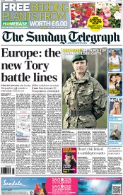 The Sunday Telegraph (UK) Newspaper Front Page for 1 July 2012