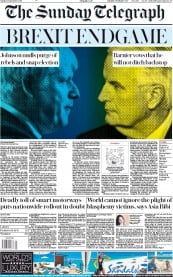 The Sunday Telegraph (UK) Newspaper Front Page for 1 September 2019