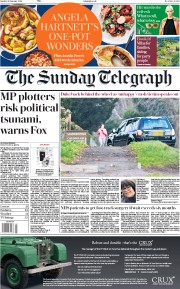 The Sunday Telegraph (UK) Newspaper Front Page for 20 January 2019