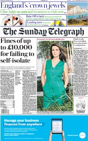 The Sunday Telegraph front page for 20 September 2020