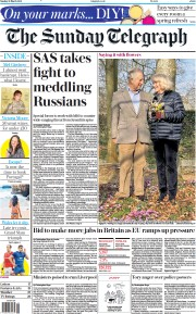 The Sunday Telegraph front page for 21 March 2021