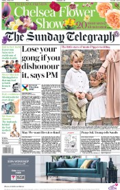 The Sunday Telegraph (UK) Newspaper Front Page for 21 May 2017