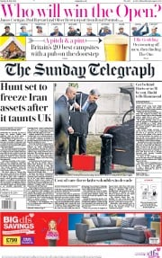 The Sunday Telegraph (UK) Newspaper Front Page for 21 July 2019