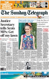The Sunday Telegraph (UK) Newspaper Front Page for 21 September 2014