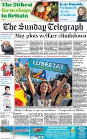 The Sunday Telegraph (UK) Newspaper Front Page for 22 October 2017