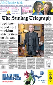 The Sunday Telegraph front page for 22 November 2020