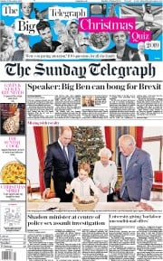The Sunday Telegraph () Newspaper Front Page for 22 December 2019