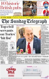 The Sunday Telegraph front page for 23 February 2020