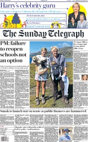 The Sunday Telegraph front page for 23 August 2020