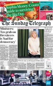 The Sunday Telegraph (UK) Newspaper Front Page for 24 December 2017