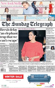 The Sunday Telegraph (UK) Newspaper Front Page for 24 February 2019
