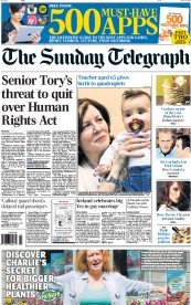 The Sunday Telegraph (UK) Newspaper Front Page for 24 May 2015