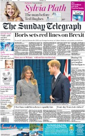 The Sunday Telegraph (UK) Newspaper Front Page for 24 September 2017