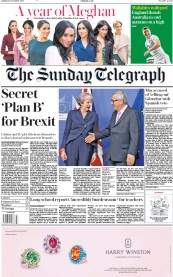 The Sunday Telegraph (UK) Newspaper Front Page for 25 November 2018