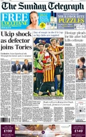 The Sunday Telegraph (UK) Newspaper Front Page for 25 January 2015