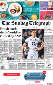 The Sunday Telegraph (UK) Newspaper Front Page for 25 February 2018