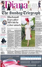 The Sunday Telegraph (UK) Newspaper Front Page for 25 June 2017