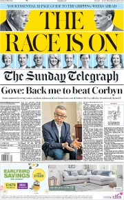 The Sunday Telegraph (UK) Newspaper Front Page for 26 May 2019