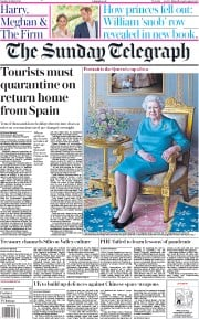 The Sunday Telegraph front page for 26 July 2020