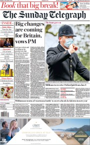 The Sunday Telegraph front page for 27 December 2020