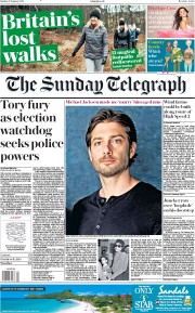 The Sunday Telegraph (UK) Newspaper Front Page for 27 January 2019
