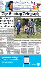 The Sunday Telegraph front page for 27 September 2020