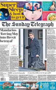 The Sunday Telegraph (UK) Newspaper Front Page for 28 January 2018