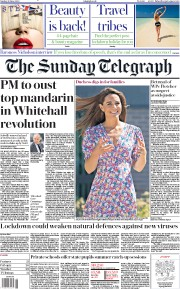 The Sunday Telegraph front page for 28 June 2020