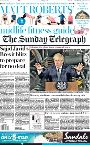 The Sunday Telegraph (UK) Newspaper Front Page for 28 July 2019