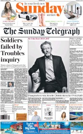 The Sunday Telegraph (UK) Newspaper Front Page for 29 January 2017