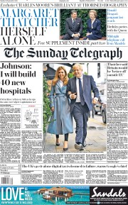 The Sunday Telegraph (UK) Newspaper Front Page for 29 September 2019
