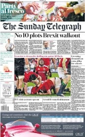 The Sunday Telegraph (UK) Newspaper Front Page for 2 July 2017