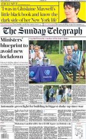 The Sunday Telegraph front page for 2 August 2020