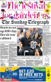 The Sunday Telegraph (UK) Newspaper Front Page for 30 June 2019