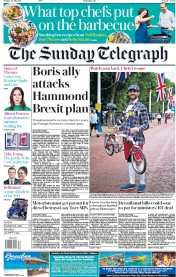 The Sunday Telegraph (UK) Newspaper Front Page for 30 July 2017