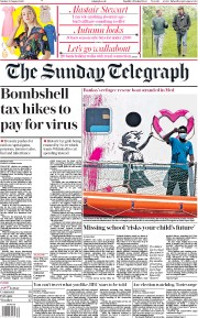 The Sunday Telegraph front page for 30 August 2020