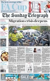 The Sunday Telegraph (UK) Newspaper Front Page for 31 January 2016