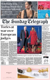The Sunday Telegraph (UK) Newspaper Front Page for 3 December 2017