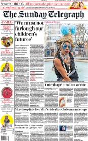 The Sunday Telegraph front page for 3 January 2021