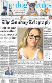 The Sunday Telegraph () Newspaper Front Page for 3 March 2019