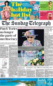 The Sunday Telegraph (UK) Newspaper Front Page for 3 June 2018