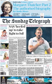 The Sunday Telegraph (UK) Newspaper Front Page for 4 October 2015