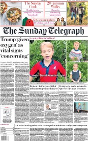 The Sunday Telegraph front page for 4 October 2020