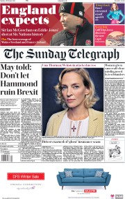 The Sunday Telegraph (UK) Newspaper Front Page for 4 February 2018