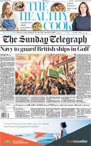 The Sunday Telegraph () Newspaper Front Page for 5 January 2020