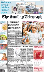 The Sunday Telegraph (UK) Newspaper Front Page for 5 July 2015