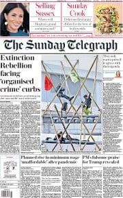The Sunday Telegraph (UK) Newspaper Front Page for 6 September 2020