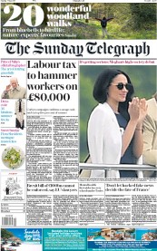 The Sunday Telegraph (UK) Newspaper Front Page for 7 May 2017